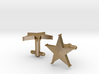 Sheriff's Star Cufflinks (Style 1) 3d printed