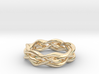 'Swoop' Braid Ring, size 8.25 3d printed