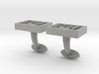 Braille cufflinks rectangle 3d printed