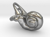 Right Inner Ear Cochlea Pendant 3d printed