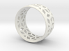 geometric ring 2 3d printed