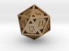 Open 20-sided die 3d printed