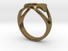 3-Heart Ring 3d printed