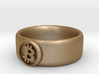 Bitcoin Ring (BTC) - Size 11.0 (U.S. 20.57mm dia) 3d printed