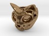 Cat Skull Ring 3d printed