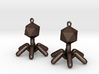 T4 Phage Earings 3d printed