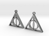 Deathly Hallows Earrings 3d printed