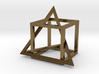 Tetrahedron in captivity of cube 3d printed