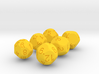 Odd Spherical Dice Set 3d printed