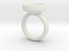 Glass Dome Ring Size 7 3d printed