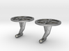 Double Gear Cufflinks 3d printed
