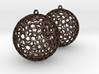 Polyhedron Cage Earring 3d printed