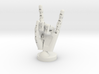 Cyborg hand posed rock 3d printed