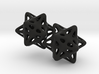 Ball captured in Stellated Dodecahedron Earrings 3d printed