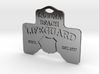 Laguna Beach Insignia Jewerly Charm (thin) 3d printed