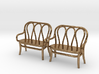 Pair of 1:48 Bentwood Settees 3d printed