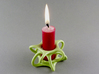 Quintal Candle 3d printed Quintal with a quarter candle