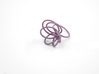 Flora Ring A (Size 8) 3d printed Custom Dyed Color (Eggplant)