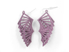 Arithmetic Earrings (Rhombus) 3d printed Wisteria Nylon (Custom Dyed Color)