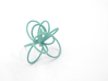 Flora Ring B (Size 9) 3d printed Teal Nylon (Custom Dyed Color)