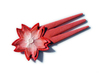 Hair pins sakura flower 3d printed