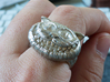 Cheshire Cat Ring 3d printed Raw Silver - No Glossy - No Patina