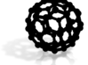 Buckyball C60 Molecule Model Medium (5cm) 3d printed