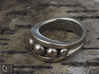 Ring - Warped Bearing 3d printed Ring has been lightly polished after printing