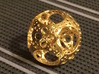 Apollonian Octahedron Mini 3d printed Gold Plated