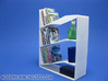 Slant 1:12 scale Bookshelf 3d printed