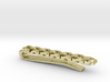 Gyroid Tie Bar (Narrow) (Personalized) 3d printed