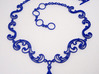 Floral Vine Necklace w/ Toggle Clasp in Nylon 3d printed Blue