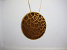 Bio Cell Pendant #2 3d printed Gold Plated Matte