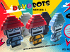 DevoBots Series 1 B/W with Blue energy dome Jerry 3d printed