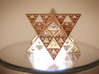 Sierpinski Octostar 3.75cm 3d printed Polished Gold Steel - Photo by Coandco