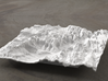 6'' Zion National Park Terrain Model, Utah, USA 3d printed Radiance rendering