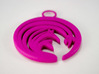 """Suisen"" Japanese single ornament 3d printed Printed in Hot Pink"