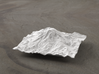 4'' Mt. Rainier Terrain Model, Washington, USA 3d printed Radiance rendering