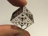 NewMenger - small fractal sculpture 3d printed Rhodium plated
