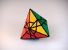 Fractured Tetrahedron Puzzle 3d printed Solved