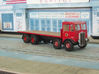 1:43 AEC Mammoth Major Mk1 Cab & 8Whl Chassis 3d printed Fitted with flatbed body