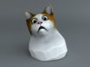 Cat Gasp Painted 3d printed
