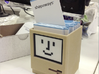 Apple Macintosh pen / card holder 3d printed Also very suitable for business cards!