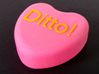 "Candy Heart ""Ditto!"" - Pink/Yellow 3d printed Profile"