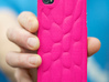 Personalised 3D Smart Phone Art Case. 3d printed Hot Pink!
