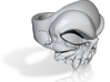 Old School Skull Ring - Size 6.5 3d printed