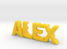 """""""Alex"""" nock depot (Easton G pin) in Yellow Strong & Flexible Polished"""
