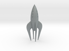Retro Rocket Miniature 3 in Polished Metallic Plastic