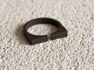 """""""Snulla"""" Ring - Size Small in Matte Black Steel"""
