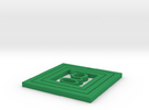 Coaster Square in Green Strong & Flexible Polished